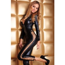 Catsuit 7-Heaven wetlook schwarz