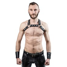 Leather X-Back Harness black Gr.S/M