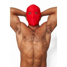 HardcoreDeLuxe LYCRA Maske Hood Eyes Open Only red Gr.S-L