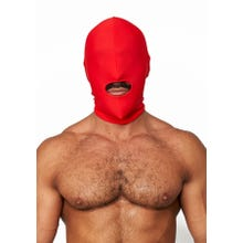 HardcoreDeLuxe LYCRA Maske Hood Mouth Open Only red Gr.S-L