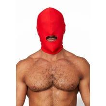 HardcoreDeLuxe LYCRA Maske Hood Mouth Open Only red Gr.S-L