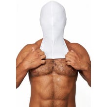 HardcoreDeLuxe LYCRA Maske Hood No Holes white Gr.S-L | SUPERSALE