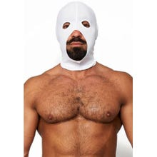 HardcoreDeLuxe LYCRA Maske Hood Cocksucker white Gr.S-L