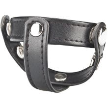 Cockstar T-Style Cockring with Ball Divider black