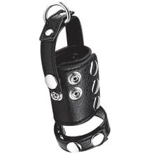 Cockstar Cockring with 2inch Ball Stretcher and Weightring black