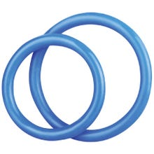 Cockstar Silicone Cockring Set 3,9 cm + 4,8 cm blue
