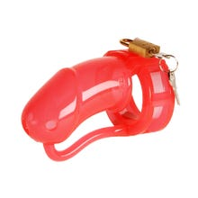 Keuschheitskäfig - Penis Cage Silicone large red clear   SUPERSALE