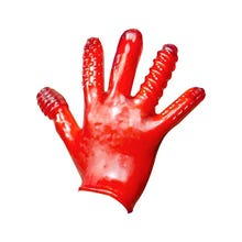 Oxballs Finger F**k Textured Glove red