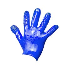 Oxballs Finger F**k Textured Glove blue