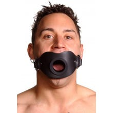 STRICT - Leder Mundknebel - Feeder Locking Open Mouth Gag