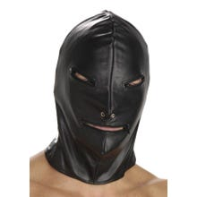 STRICT - Ledermaske mit Reissverschlüssen - Leather Basic Zipper Hood | SUPERSALE