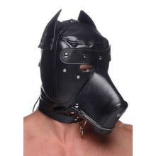Master Series - Muzzled Universal Bdsm Hood With Removable Muzzle