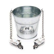 MASTER SERIES - Slave Bucket - Labien-/Nippelklemmen mit Eimer