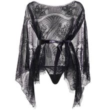 Leg Avenue Lace Kaften Robe and Thong black Gr.OS
