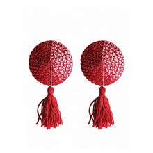 Ouch Nipple Tassels Round Red