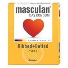 Masculan Kondome Typ3 - gerillt + genoppt 3 Stk.