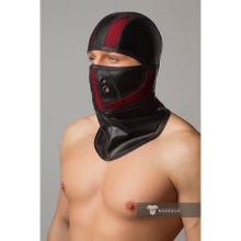 MASKULO - Armored Color Under Fetish Balaclava - Red/Black - Gr.OS