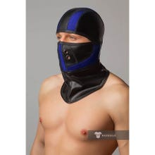 MASKULO - Armored Color Under Fetish Balaclava - Royal Blue/Black - Gr.OS