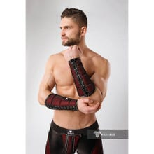 MASKULO - Armored Color Under Forearm Guard Wallet - Red/Black