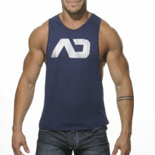 ADDICTED AD043 Low Rider Tank Top navy blue | SUPERSALE