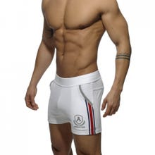 ADDICTED SPORTSWEAR AD337 Short Tight Pant Intercotton white SUPERSALE