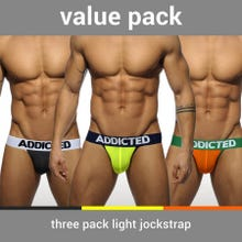 ADDICTED AD404P Value Pack Light Jockstrap 3 Stk