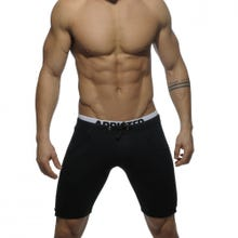 ADDICTED SPORTSWEAR AD417 Combined Waistband Knee Pant black