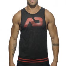 ADDICTED AD492 Mesh Tank Top black/blue Gr.XXL | SUPERSALE