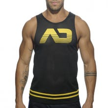 ADDICTED AD492 Mesh Tank Top black/yellow Gr.XXL | SUPERSALE