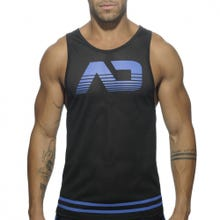 ADDICTED AD492 Mesh Tank Top black/blue