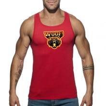 ADDICTED AD603 WOOF Tank Top red | SUPERSALE