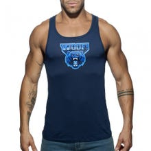 ADDICTED AD603 WOOF Tank Top blue