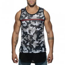 ADDICTED AD634 Addicted Origonal Tank Top camouflage grey Gr.S | SUPERSALE