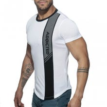 ADDICTED AD779 Vertical Stripe T-Shirt white