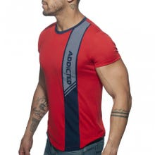 ADDICTED AD779 Vertical Stripe T-Shirt red Gr.XXL | SUPERSALE