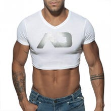 ADDICTED AD819 Crop AD Top white