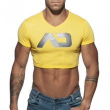 ADDICTED AD819 Crop AD Top yellow