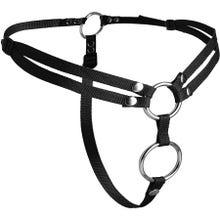Strap U - Unity Double Penetration Strap On Harness black