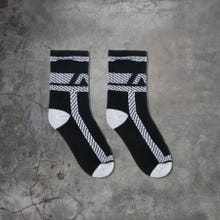 ADDICTED ADF108 Pockets Fetish Socks black/white