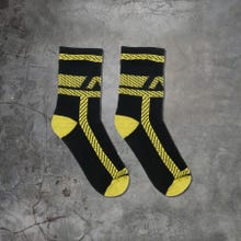 ADDICTED ADF108 Pockets Fetish Socks black/yellow
