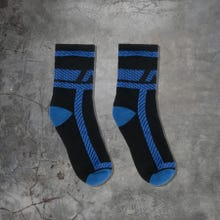 ADDICTED ADF108 Pockets Fetish Socks black/royal blue