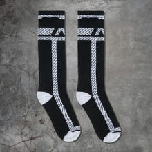 ADDICTED ADF109 Pockets Fetish Long Socks black/white