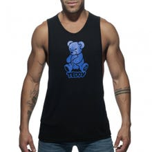 ADDICTED ADF55 Teddy Tank Top black / blue