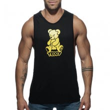 ADDICTED ADF55 Teddy Tank Top black / yellow
