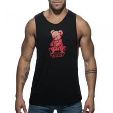 ADDICTED ADF55 Teddy Tank Top black / red