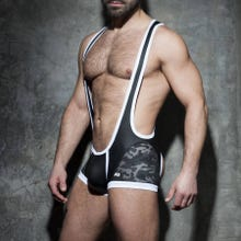ADDICTED ADF74 Camo Mesh Open Singlet black/white
