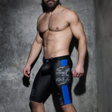 ADDICTED ADF75 Fetish Camo Mesh Short black/royal blue