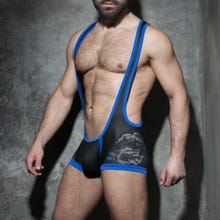 ADDICTED ADF82 Camo Mesh Singlet camo/blue