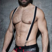 ADDICTED ADF89 Zipper Suspenders black/white