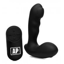12 x 3,3 cm Alpha Pro P-Milker Prostata-Vibrator mit beweglicher Perle black - Akku Power